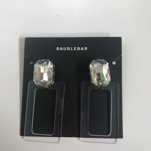 BaubleBar rhinestone and acrylic earrings